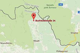 Anfahrtsskizze - Urlaub in Bayern Mauth-Finsterau